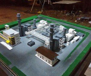 maket pembangkit listrik
